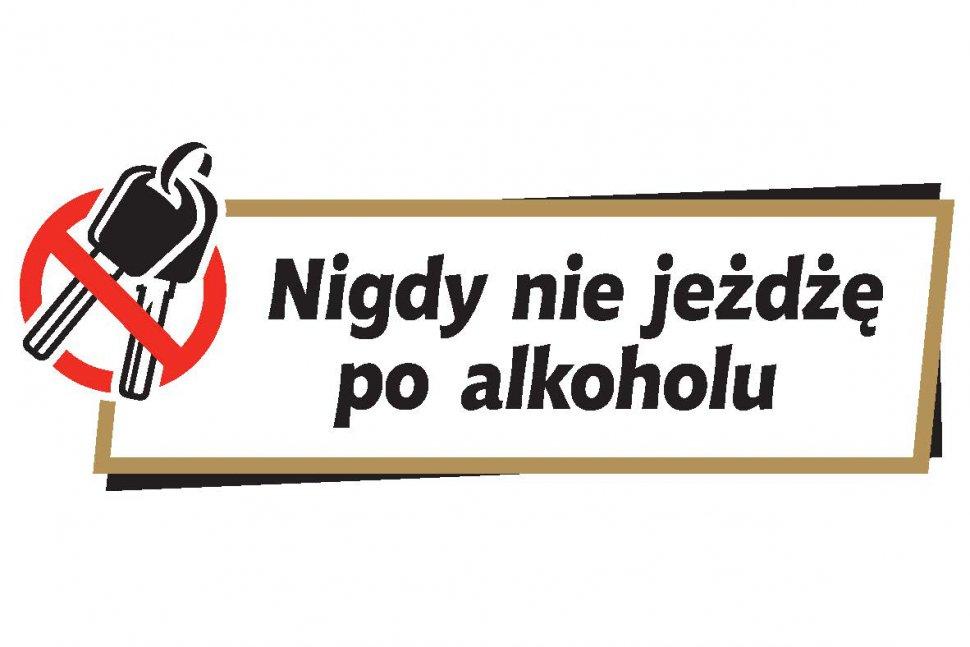 grafika - nigdy nie jeżdżę po alkoholu - kluczyki przekreślone